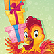 Symbol of Chinese Horoscope - Fire Rooster with Gift Boxes - GraphicRiver Item for Sale