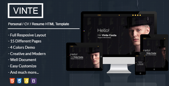 Vinte - Personal / CV / Resume HTML Template