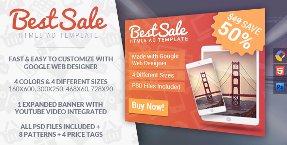 BestSale - HTML5 Promotional Banner Template Download