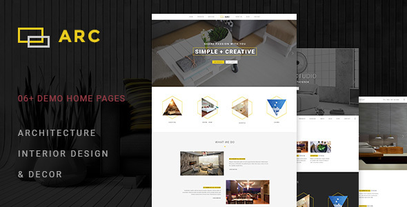 ARC - Interior Design, Decor, Architecture WordPress Theme