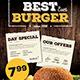 Fast Food Restaurant Menu - GraphicRiver Item for Sale