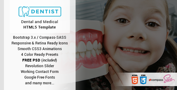 Dentist - Dental & Medical One Page HTML Template