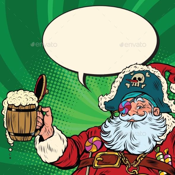 Santa Claus Beer in the Irish Pub