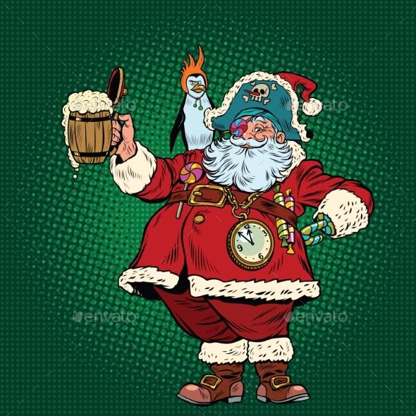 Santa Claus Congratulates St. Patricks Day