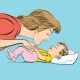 Mother and Newborn Baby Love - GraphicRiver Item for Sale