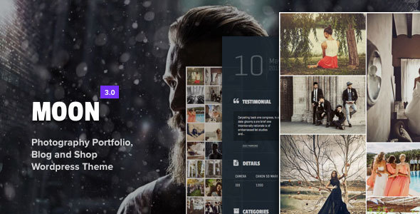 Moon - Photography Portfolio Theme for WordPress