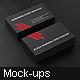 Black Business Card Mockup - GraphicRiver Item for Sale