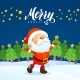 Merry Christmas Holiday Greeting Card. - GraphicRiver Item for Sale