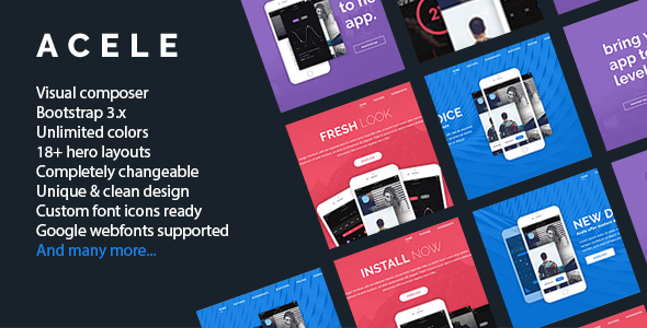 App WordPress Theme - Acele