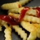 French Fries on the Black Surface - VideoHive Item for Sale