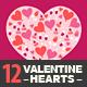 12 Valentine Hearts - GraphicRiver Item for Sale