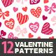 12 Valentine Seamless Patterns - GraphicRiver Item for Sale