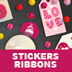 Valentine Gift Tags, Stickers, Ribbons - GraphicRiver Item for Sale