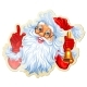 Christmas Stickers With Santa - GraphicRiver Item for Sale