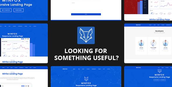 Minfox - Software Landing Page