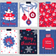12 Christmas Cards and Seamless Patterns - GraphicRiver Item for Sale
