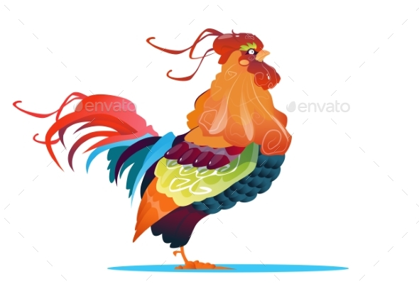 Rooster Bird Happy New Year Sign Asian Horoscope