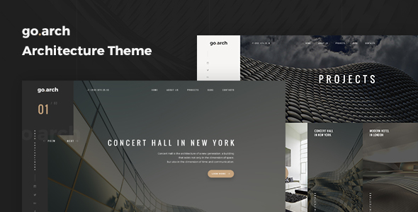 go.arch - Architecture and  Interior WordPress Theme