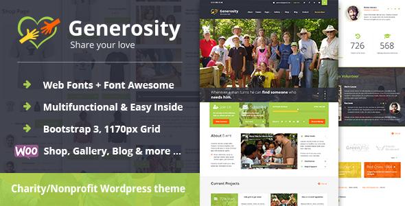 Generosity - Charity Non-profit WordPress Theme