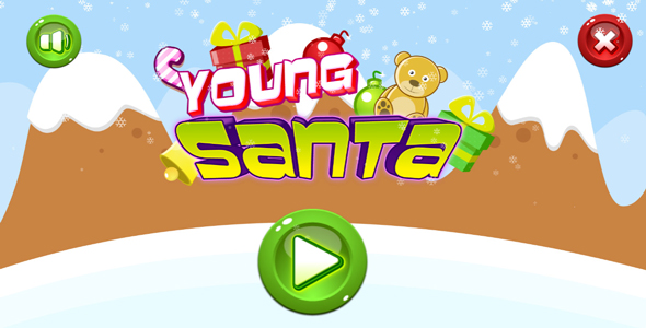 Young santa - HTML5 game. Construct 2(.capx) + mobile + leaderboard Download