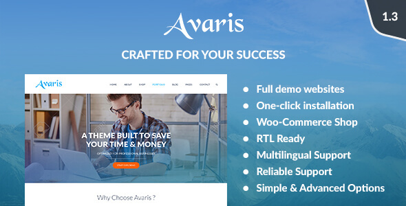 Avaris - Responsive WordPress Multipurpose Theme