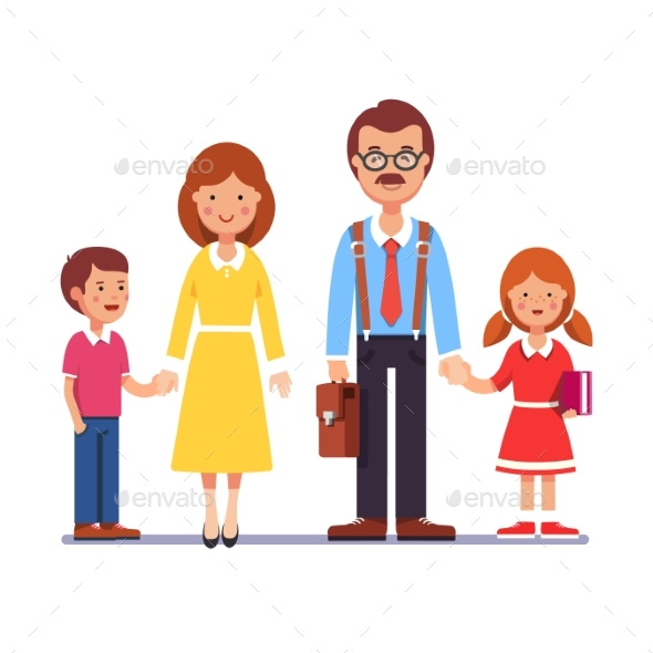 Mother and Father with Their Children