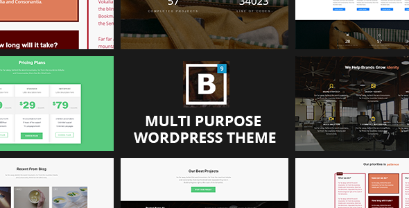 One page WordPress Theme - BIG Border