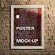 Realistic Framed Poster Holding Mock-up - GraphicRiver Item for Sale