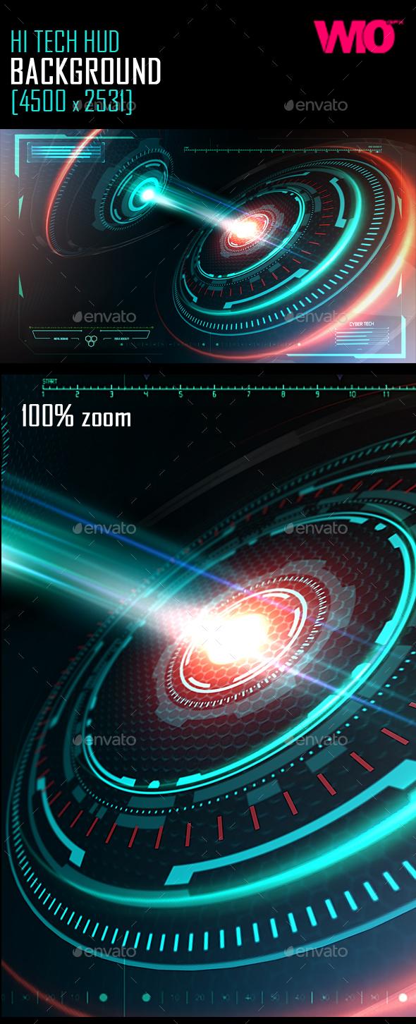 Hi Tech Space Background