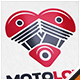 Motorcycle Love Logo - GraphicRiver Item for Sale