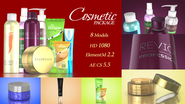 Cosmetic Package Template