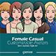 Female Casual Customizable Avatars - GraphicRiver Item for Sale