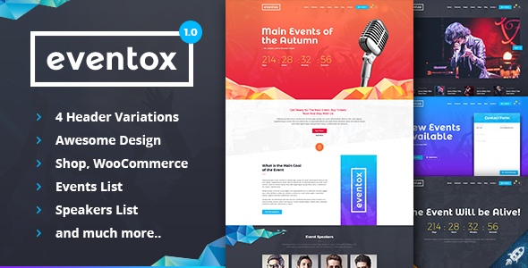 Eventox | Event Concert & Conference Template