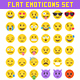 Big 36 Flat Style Vector Emoji Set - GraphicRiver Item for Sale