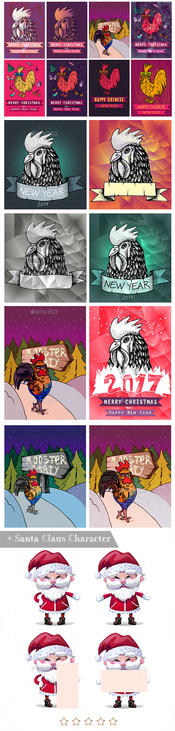 2017 Christmas & New Year Graphics Pack I