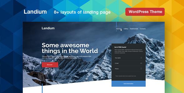Landium - WordPress App Landing Page