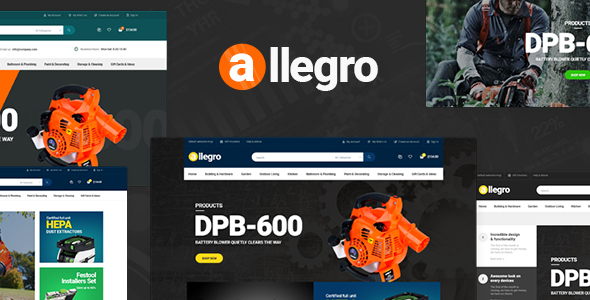 Allegro - WooCommerce WordPress Theme for Equipment Stores