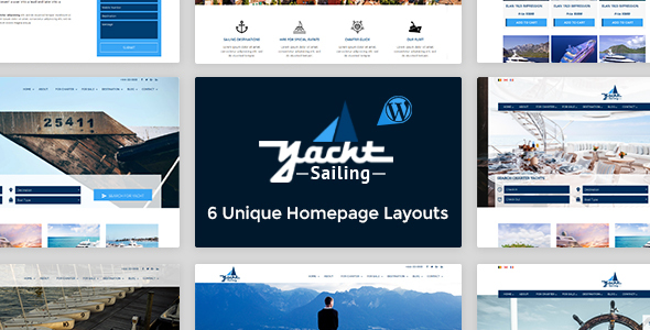 Yacht Sailing - Marine Charter WordPress theme