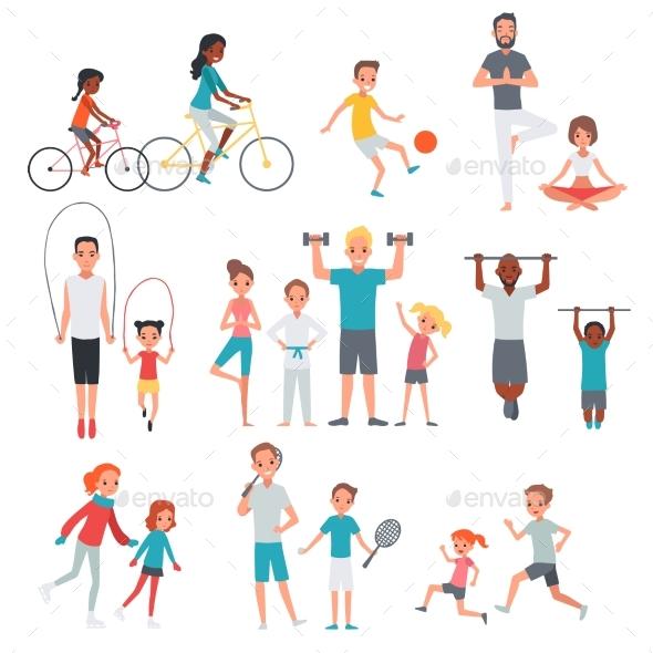 People Flat Fitness Set