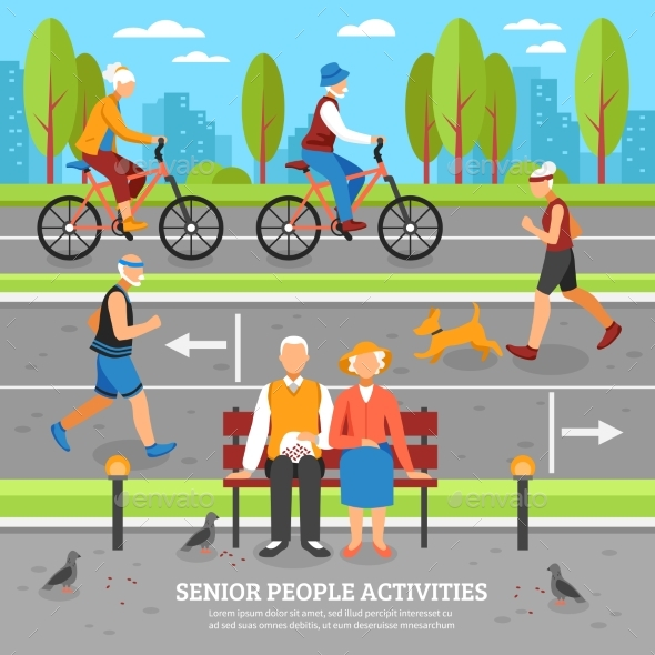 Old People Activities Background
