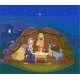 Christmas Nativity Scene. Vector - GraphicRiver Item for Sale