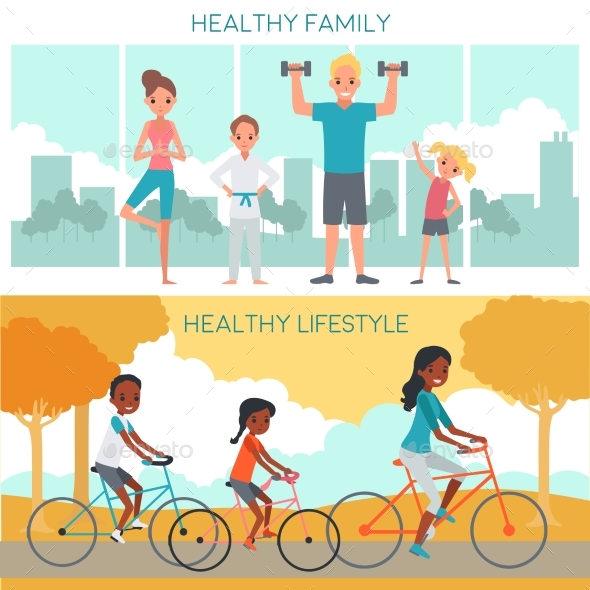 Active Family Horizontal Banners
