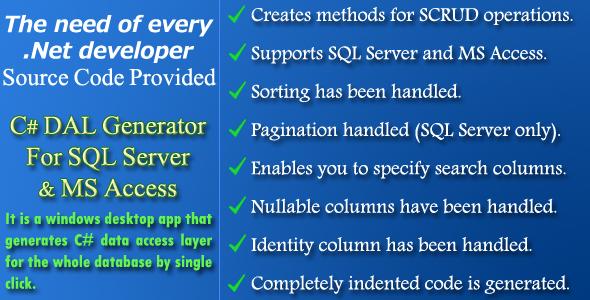 C# DAL Generator - Source Code