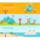 Travel Concept Colorful Banners Set - GraphicRiver Item for Sale