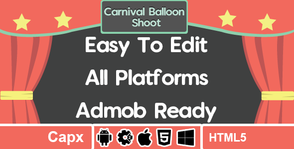 Carnival Balloon Shoot - AdMob - HTML5 - Construct 2 Download