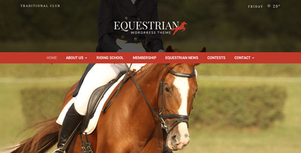 Equestrian - Horses and Stables WordPress Theme