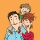 Family Mom Dad and Son - GraphicRiver Item for Sale