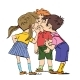 Mystery a Group of Children Whispering - GraphicRiver Item for Sale