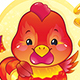Symbol of the Chinese Horoscope - Fire Rooster - GraphicRiver Item for Sale