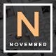 November - A WordPress Blog Theme - ThemeForest Item for Sale